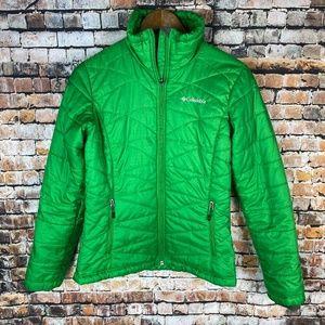 Columbia Green Puffer Jacket